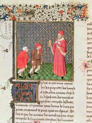 Ms 399 fol.35v Beggars, from 'Livre des Proprietes des Choses' by Barthelemy l'Anglais