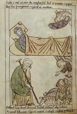 Ms 108 fol.168 The Nativity, from a Bible