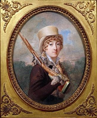Natalie de Laborde de Mereville, Comtesse Charles de Noailles, in the Park at Mereville, c.1805