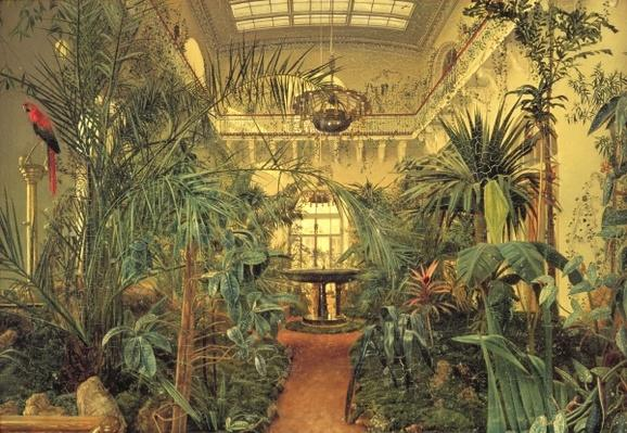 Winter Garden in the Winter Palace, St. Petersburg, 1840