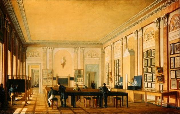 Painting Atelier in the Moscow Art School, c.1830