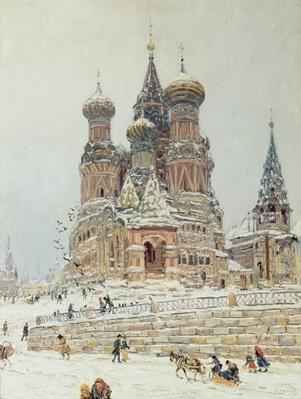 St. Basil's Cathedral, Red Square, Moscow, c.1917