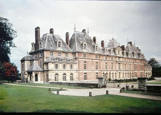 Facade of the Chateau d'Eu, originally built in 1578 by Henri de Lorraine