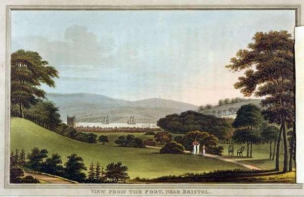View from the Fort, near Bristol, from 'Observations on the Theory and Practice of Landscape Gardening by Humphrey Repton