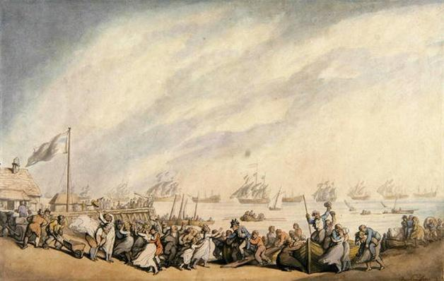 The Return of the Fleet to Great Yarmouth after the Defeat of the Dutch in 1797, c.1797