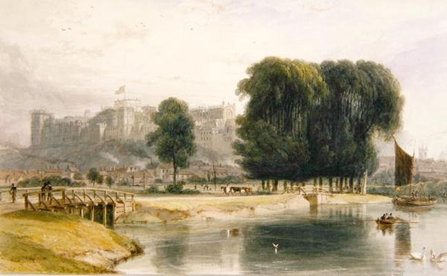 Windsor Castle, from near Brocas Meadows, 1827