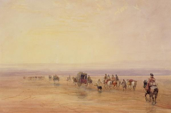 On Lancaster Sands, Sunset