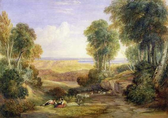 The Junction of the Severn and the Wye with Chepstow in the Distance, 1830