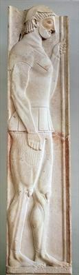 Funerary stela of the Hoplite Aristion, from Velanideza, Attica, c.510 BC