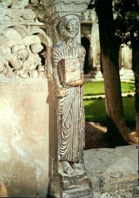 Figure of Gamaliel on a pillar in the cloister