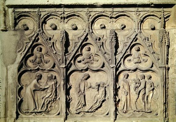 The Story of Adam and Eve, from the north portal of the main facade, 13th-14th century