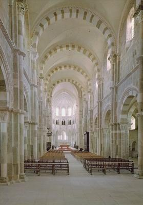 View of the interior of the nave, c.1120-50