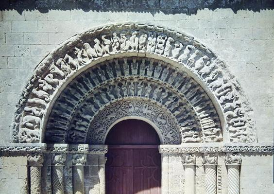 View of the portal of the south transept, 1150-75