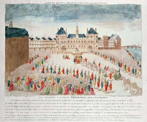 Perspective view of the arrival of Louis XVI