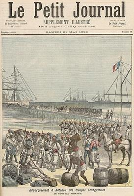 Landing of the Senegalese Troops at the New Wharf in Cotonou, from 'Le Petit Journal', 21st May 1892