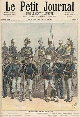 The Italian Army, from 'Le Petit Journal', 28th May 1892
