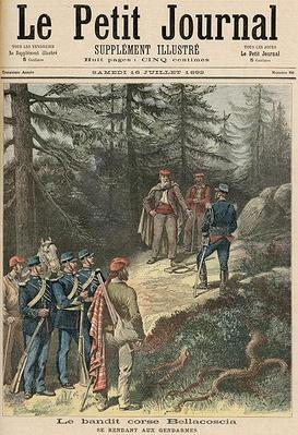 The Corsican Bandit, Jacques Bellacoscia, Surrendering to the Police, from 'Le Petit Journal', 16th July 1892