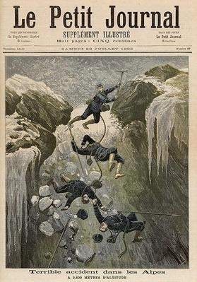 A Terrible Accident in the Alps, from 'Le Petit Journal', 23rd July 1892