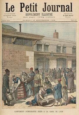 Jewish Refugee Camp in the Gare de Lyon, from 'Le Petit Journal', Supplement Illustre, 10th September 1892