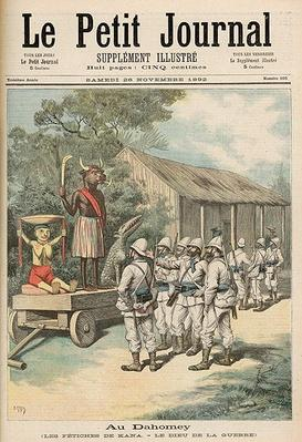 Kana Fetishes in Dahomey, from 'Le Petit Journal', 26th November 1892
