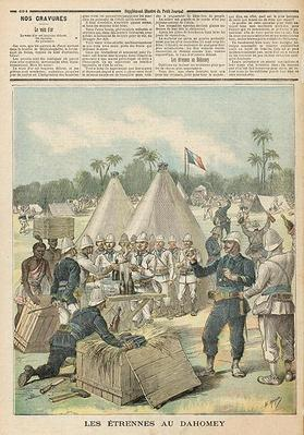 New Year's Boxes in Dahomey, from 'Le Petit Journal', 31st December 1892