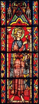 Window depicting the prophet Obadiah, c.1270-75