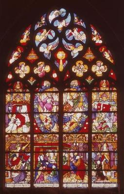 Window depicting scenes from the Life of the Virgin