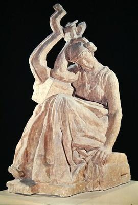 Sappho, cast for a bronze sculpture made in 1925