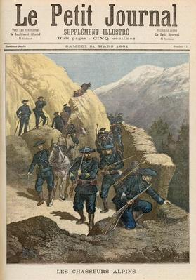 Mountain Infantrymen, from 'Le Petit Journal', 21st March 1891