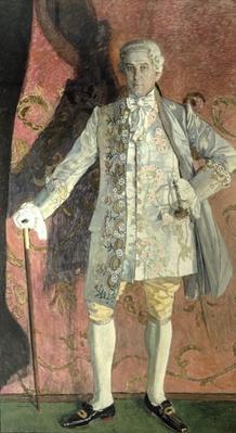 Portrait of Dmitry Smirnov as Chevalier des Grieux in Jules Massenet's