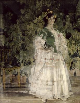 Portrait of Maria Kusnetsova-Benois as Carmen, 1908