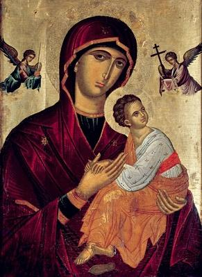 Icon depicting the Holy Mother of the Passion