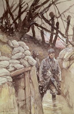 Infantrymen in a Trench, Notre-Dame de Lorette, 1915