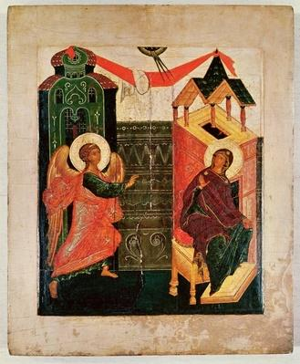 Icon depicting the Annunciation, Novgorod School