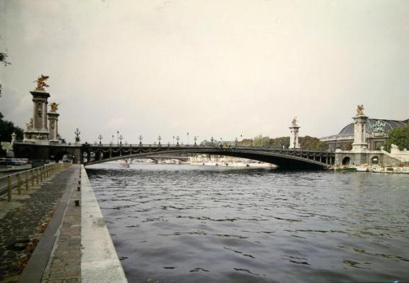 View of the Pont Alexandre III, built by the engineers Louis-Jean Resal