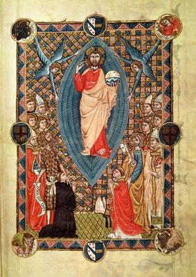 Christ in Majesty with Saints, from the Pontifical of Bishop Pierre de la Jugie, 1350