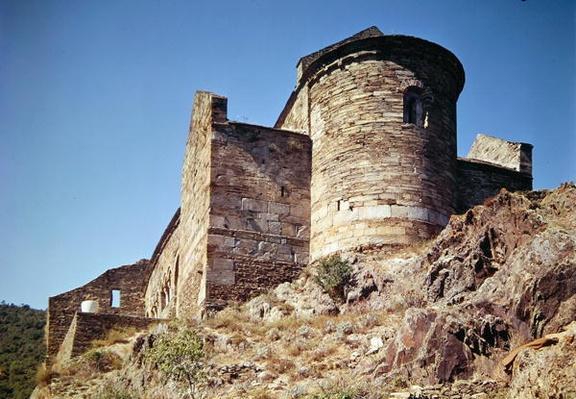 View of the Priory of Saint-Marie de Serrabona, built 10th-11th century