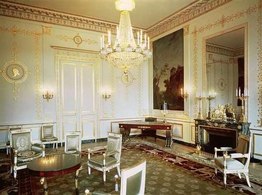 Interior of the Salon Vert in the appartment of Prince Eugene de Beauharnais