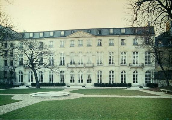 View of the garden facade of the Hotel de Beauharnais, built in 1713