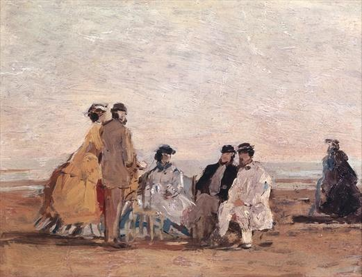 On the Beach at Trouville, c.1865