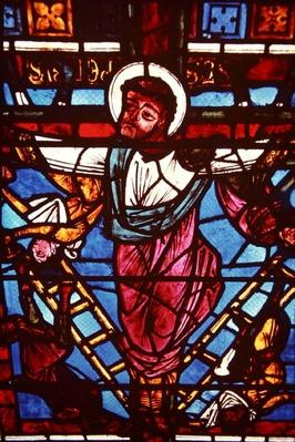 The Crucifixion of St. Peter, from the Crucifixion Window, 1150-70