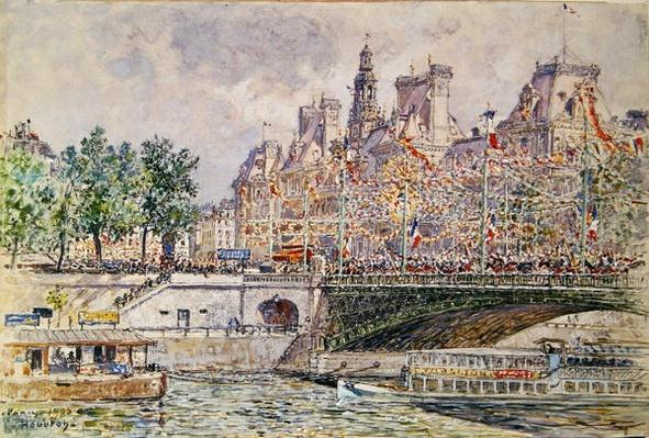 Place de l'Hotel de Ville, Paris, 14th July 1905