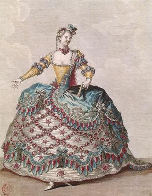 Costume for an Indian woman for the opera ballet 'Les Indes Galantes' by Jean-Philippe Rameau