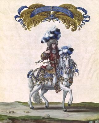 The Prince of Conde as the Emperor of Turkey, part of the Carousel Given by Louis XIV