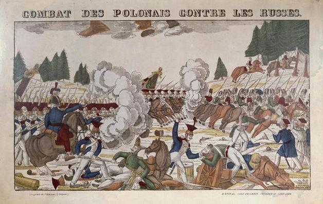 Battle between Polish and Russian Troops, 1831