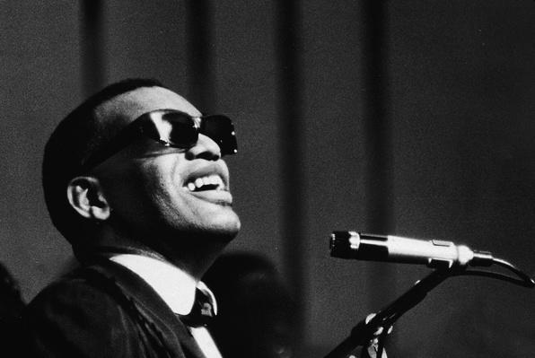 Ray Charles Performing At Mic | 20th Century Music Icons