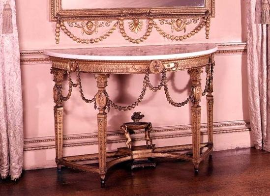 Side-table with scagliola top, designed by Adam, c.1755