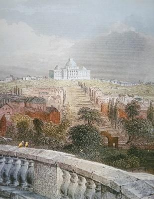View of the Capitol from the White House in 1840