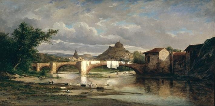 View of Puy-en-Velay from Espaly, 1872