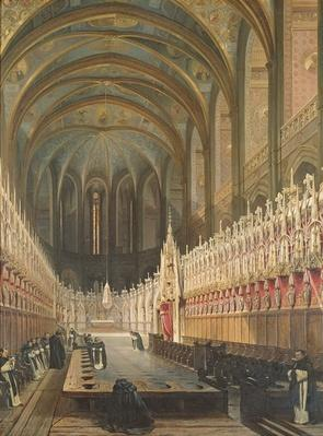 Interior of Albi Cathedral, 1832